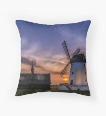 Lytham Windmill at Sunset Throw Pillow