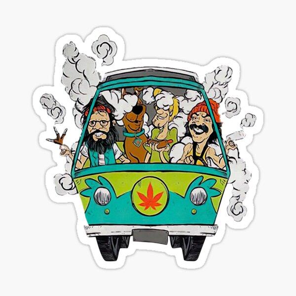 Graphic Love Driving Car Cheechs Design Chongs Sticker