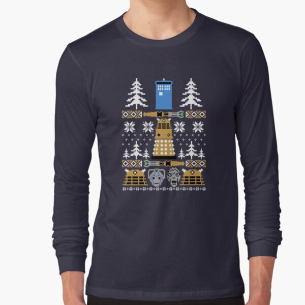 Doctor Ugly Sweater Who Long Sleeve T-Shirt