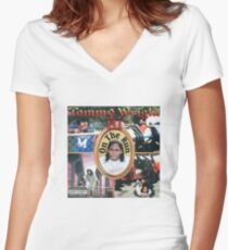 Tommy Wright III Women's Fitted V-Neck T-Shirt