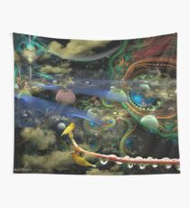 The History of the Bioluminoidal Fractalization Process Wall Tapestry