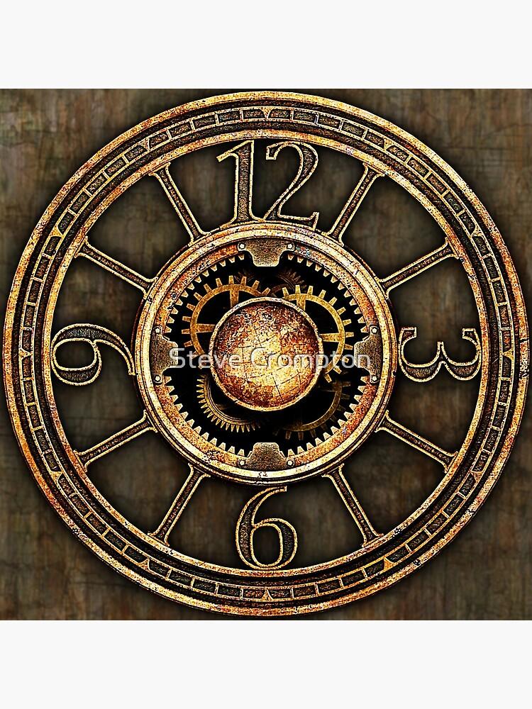 Vintage Steampunk Clock No.2 by SC001