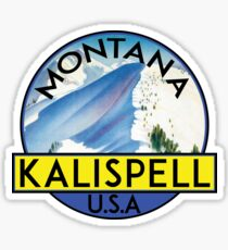 KALISPELL MONTANA MOUNTAINS SKIING SKI BIKING HIKING CAMPING CLIMBING GLACIER NATIONAL PARK FLATHEAD LAKE 5 Sticker