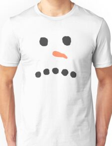 Sad Unhappy Snowman Face Bah Humbug Unisex T-Shirt