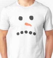 Sad Unhappy Snowman Face Bah Humbug Unisex T-Shirt