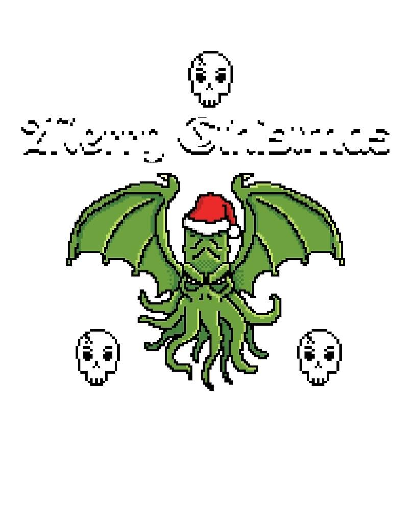 Merry Cthistmas Cthulhu Ugly Christmas Sweater» de APawlicki