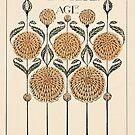 Die goldene Zeitalter-Weinlese-Karte von chalicevvinter
