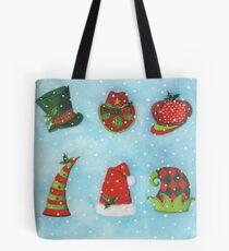 Christmas Hats Tote Bag