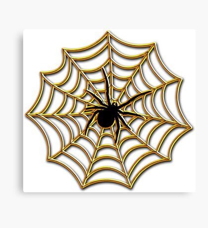 Halloween Spider Web Canvas Print