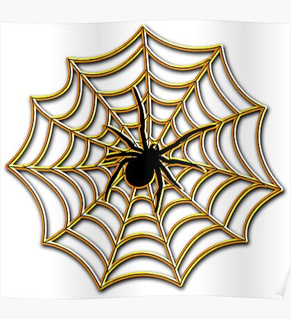 Halloween Spider Web Poster