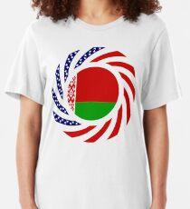 Belarusian American Multinational Patriot Flag Series Slim Fit T-Shirt