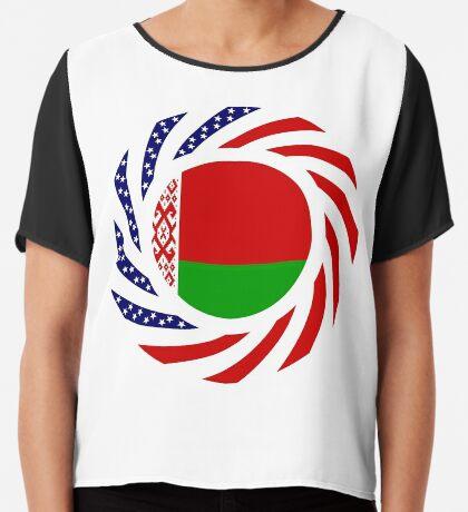 Belarusian American Multinational Patriot Flag Series Chiffon Top
