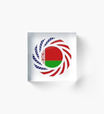 Belarusian American Multinational Patriot Flag Series Acrylic Block