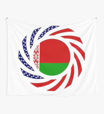 Belarusian American Multinational Patriot Flag Series Wall Tapestry