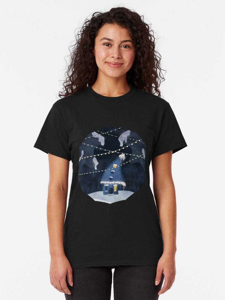 Alternate view of Into the Winter Woods Classic T-Shirt