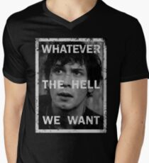 Bellamy - The 100 - Whatever the hell we want Men's V-Neck T-Shirt