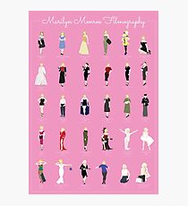 Marilyn Monroe Filmography Photographic Print