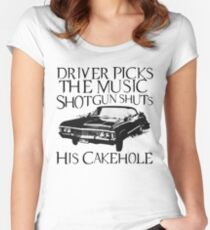 Driver Picks The Music  Women's Fitted Scoop T-Shirt
