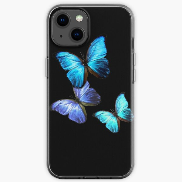 Blue Butterfly iPhone Soft Case