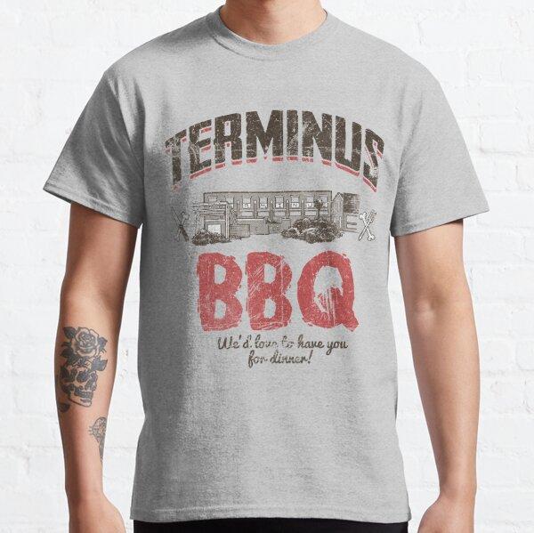 Terminus BBQ Zombie Restaurant Art Classic T-Shirt