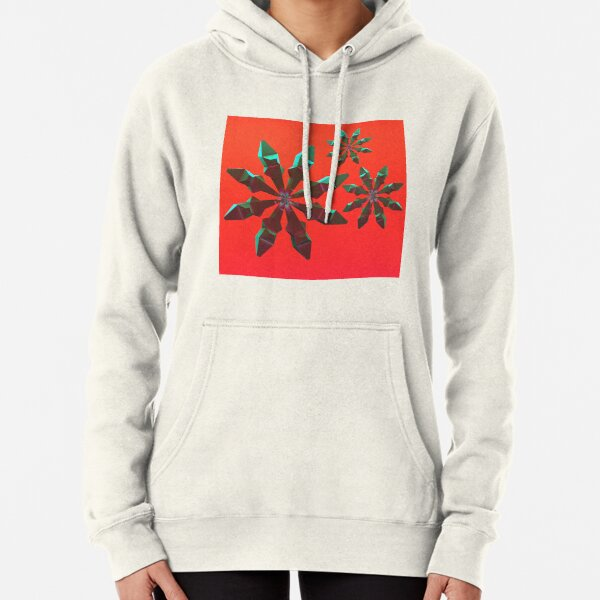 Snowflakes (red and green) Pullover Hoodie