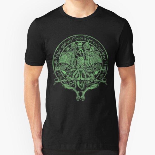 The Idol Sick Green Variant Cthulhu God Art Slim Fit T-Shirt