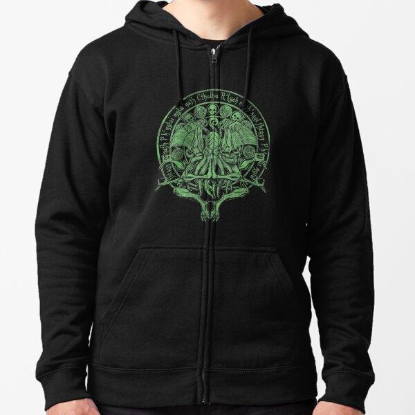 The Idol Sick Green Variant Cthulhu God Art Zipped Hoodie