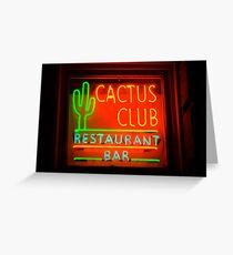 cactus club - neon sign Greeting Card