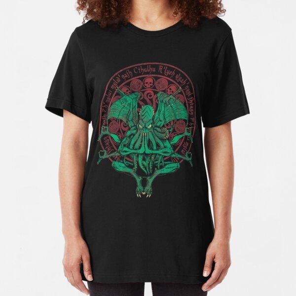 The Idol Cthulhu God Art Slim Fit T-Shirt