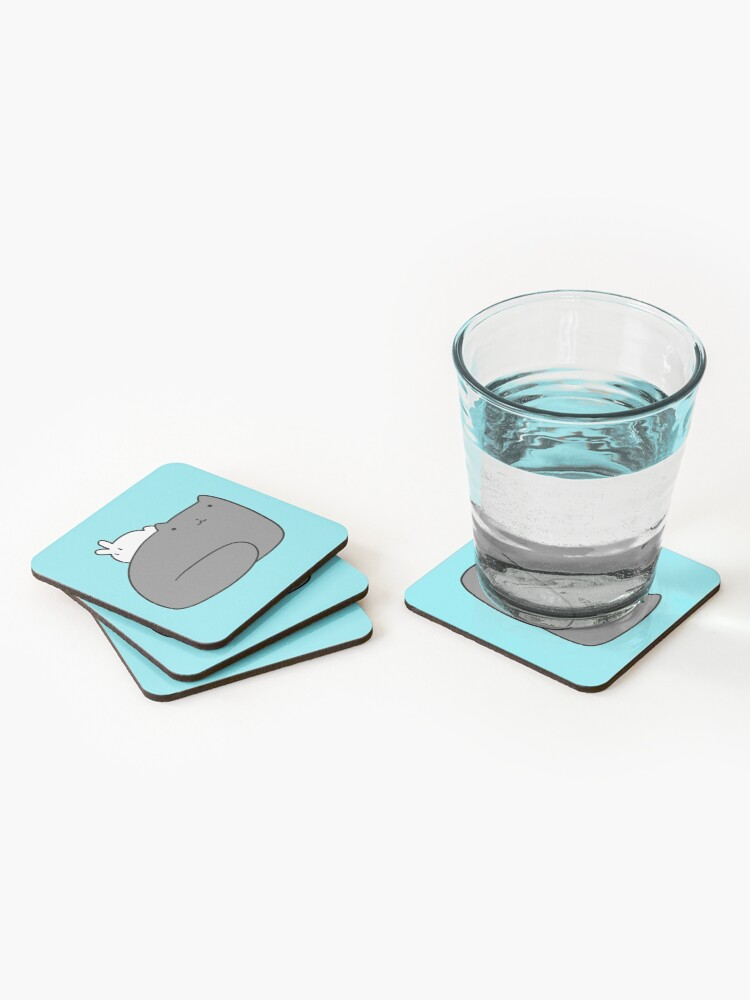 Alternate view of Big Cat and Tiny Bunny Coasters (Set of 4)