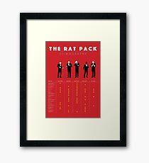 The Rat Pack Filmography Framed Print