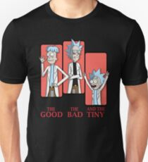 Good Rick. Bad Rick. And The Tiny Rick! Unisex T-Shirt
