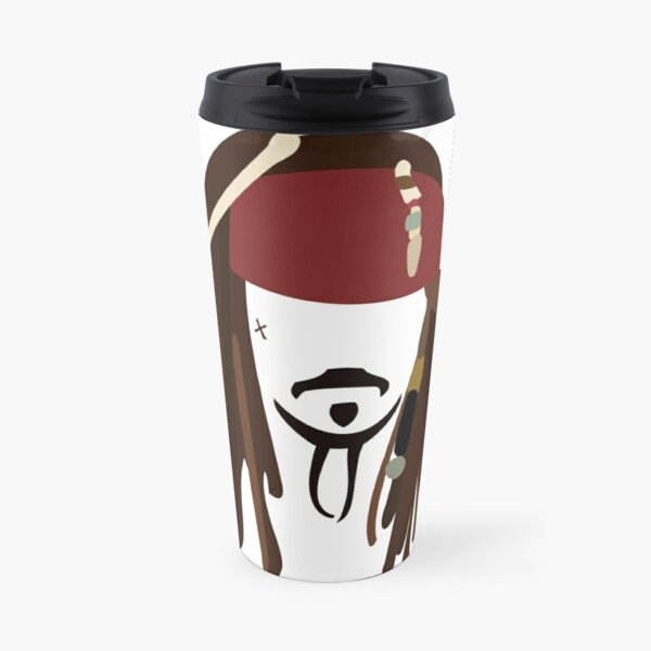 Jack Sparrow - Johnny Depp - Pirate of the Caribbean Travel Mug