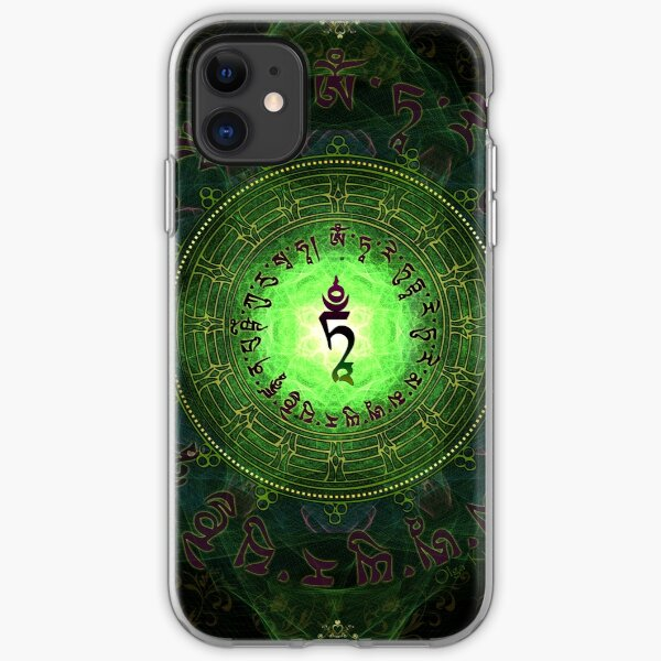 Green Tara Mantra- Protection from dangers and suffering. iPhone Soft Case