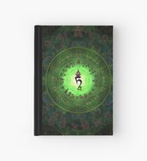 Green Tara Mantra- Protection from dangers and suffering. Hardcover Journal