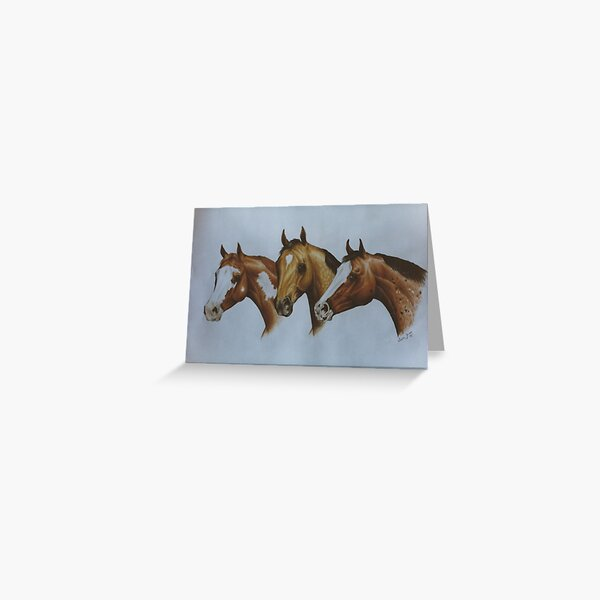 Western Breeds Greeting Card
