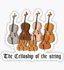 The Celloship of the String Sticker