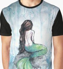 Meerjungfrau Aquarell Grafik T-Shirt
