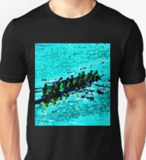 Rowing over blue waters Unisex T-Shirt