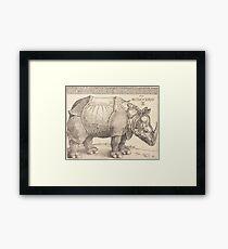 Albrecht Dürer or Durer The Rhinoceros Framed Print