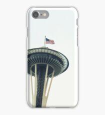 USA Flag Seattle Space Needle iPhone Case/Skin