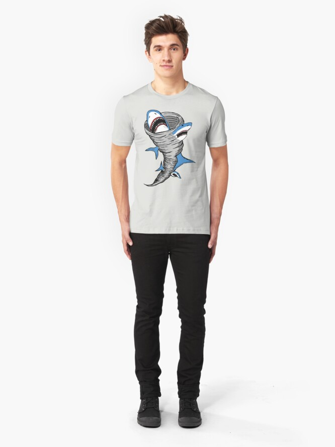 Alternate view of Shark Tornado Slim Fit T-Shirt