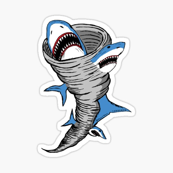 Shark Tornado Sticker