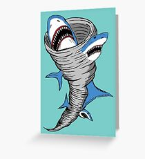 Shark Tornado Greeting Card