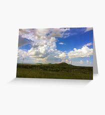 west texas desert mountains Greeting Card