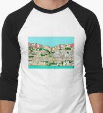 Bonifacio in Corsica Men's Baseball ¾ T-Shirt