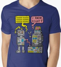 Robot Talk Men's V-Neck T-Shirt