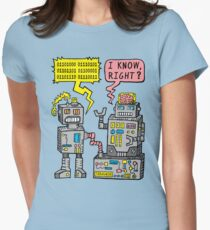 Robot Talk Womens Fitted T-Shirt