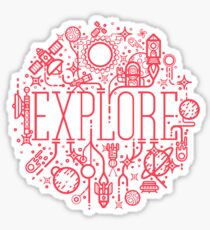 Explore Space Sticker