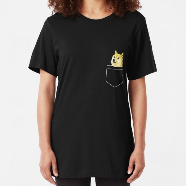 Pocket Doge Slim Fit T-Shirt